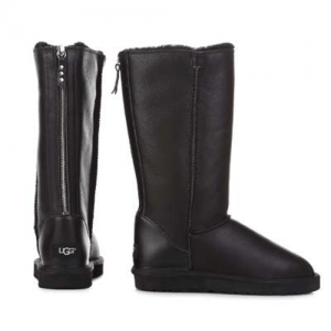 UGG Classic Tall Zip Leather Black