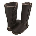 UGG Bailey Button Triplet Leather Chocolate