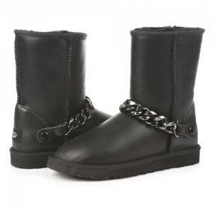 UGG Short Chain Leather Black