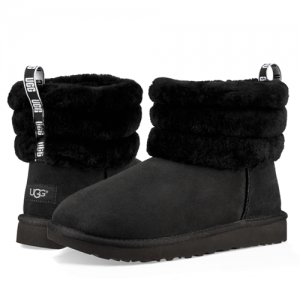 UGG Classic II Mini Fluff Quilted Black
