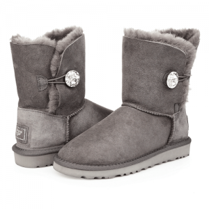 UGG Bailley Button Bling Grey