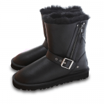 UGG Short Blase Leather Black