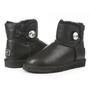 UGG Mini Bailey Bling Leather Black
