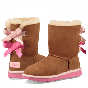 UGG Kids Bailey Bow II Boot Chestnut