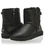 UGG Shiny Mini Double Zip Metallic Black
