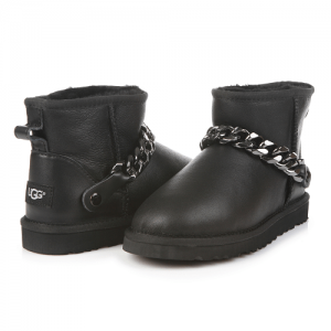 UGG Mini Chain Leather Black