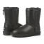 UGG Classic Zip Leather Black