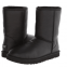 UGG Kid's Classic Short Leather Black
