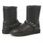 UGG Short Chain Leather Black