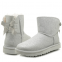 UGG Mini Bailey Bow Sparkle Boot Silver