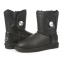 UGG Kid's Bailey Bling Leather Black