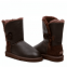 UGG Bailey Button Leather Chocolate